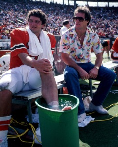 Kosar and Kelly discussing life in the midst of a blowout, the latter trying to fulfill as many Miami stereotypes as humanly possible.